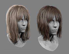 3D asset Realtime Medium Length Hairstyle