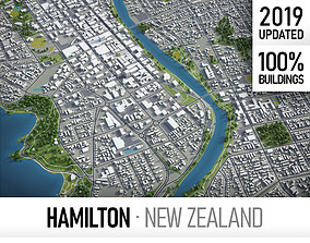 Hamilton - city and surroundings 3D model