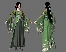 Ancient Chinese Beauty Lady Cute girl 3D asset