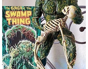 3D printable model Swamp Thing Statue with light up base
