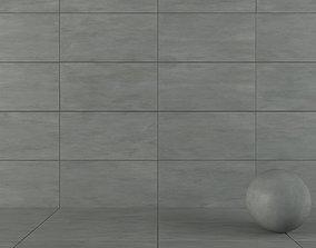Concrete wall tiles Luce Piombo 60x120 3D model