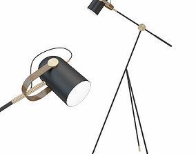Carronade 360S floor lamp black 3D model