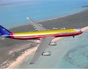 3D Airbus A340-600 Air Jamaica