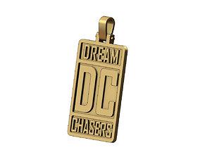 3D printable model Dream chasers rectangular pendant