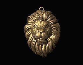 Lion Head Pendant 3D print model jewelry