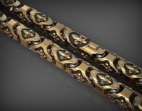 Stylish bracelet or necklace 3D printable model