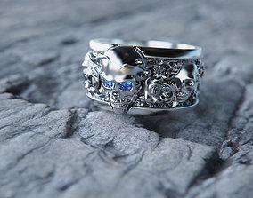 Roses of eternity ring 3D printable model