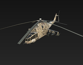 Helicopter MI-24A 3D asset
