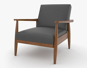 3D Better Homes and Gardens Flynn Mid-Century Chair Wood