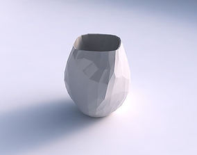 Vase low bulky helix with low-polygon 3D printable model