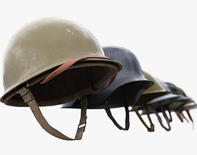 8 Helmets Collection UE4 and Unity 3D model realtime