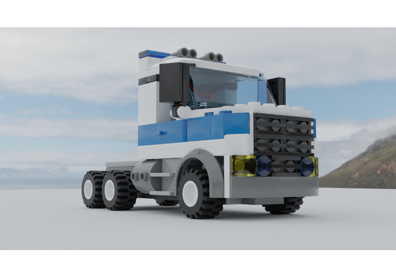 Lego police tractor