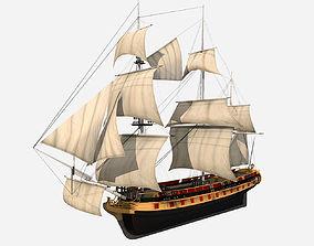 PBR HMS Bounty 3D asset