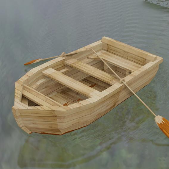 Boat 3D model..