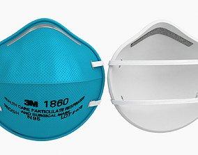 3D asset Surgical Mask 3M
