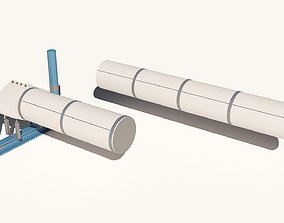 3D Oil pipe sections