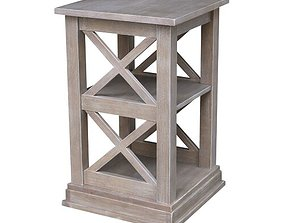 Rossitano Accent End Table with Storage 3D model