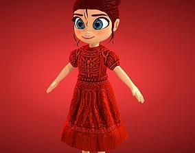 3D asset Princes Cartoon