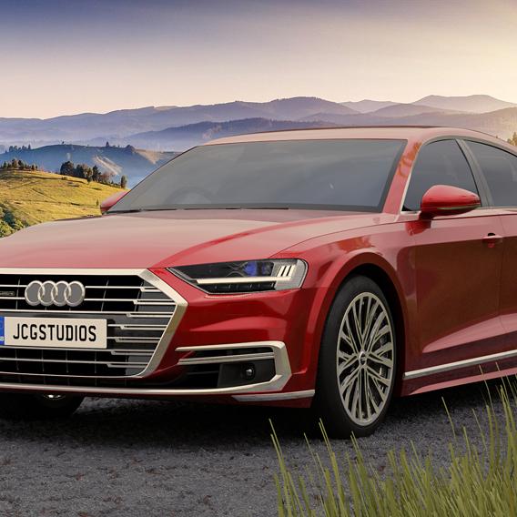 Audi A8L, Blender 2.83 Cycles (100 Samples)