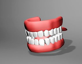 tooth 3D model low-poly