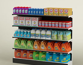 Storage shelving rack chemical products 01 3D model