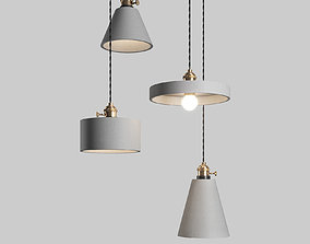 Tudo and Co Concrete Vasa Minimalist Pendant 3D model