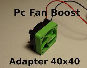 PC Fan Pressure Boost Adapter 40x40x10mm 3D print model