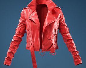 Pink PVC Jacket Open 3D model