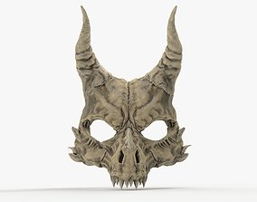 Demon Skull Mask 3D printable model