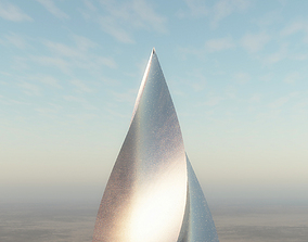 sci-fi Spire building 3D model
