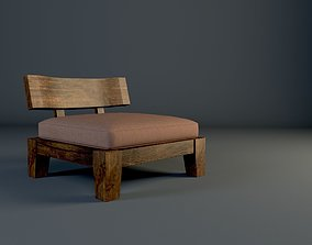 Tatami chair and table 3D