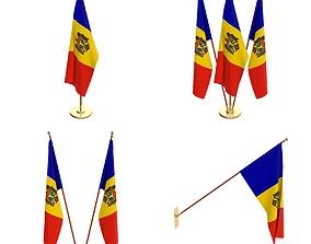 Moldova Flag Pack 3D model