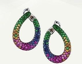 boucheron masy the chameleon hoop earrings 3D print 1