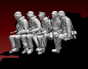 3D printable model German soldiers crew