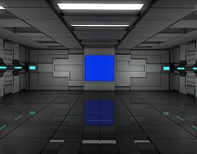 3D futuristic Sci Fi Room