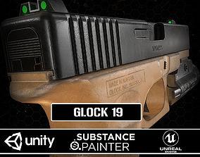 3D model animated Glock 19