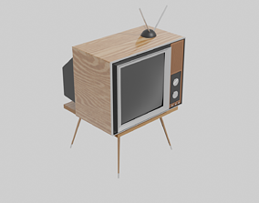3D model interior Retro tv
