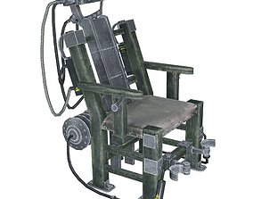 Electric chair 3D asset VR / AR ready