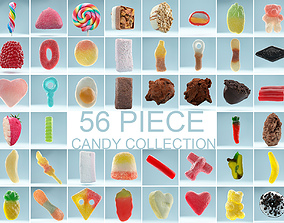 3D model 56 Piece Candy Collection