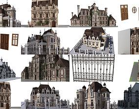 3D model Old mansions