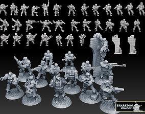 3D printable model Combat Monk Cadre Megapack