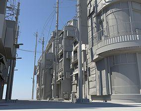 residential Japan Modern Street Scene 3D