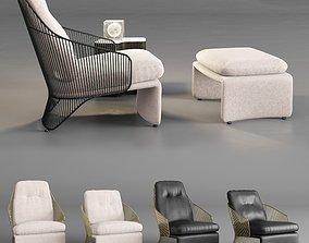 Minotti Colette Armchairs 3D
