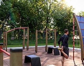 3D model Fitness outdoor area