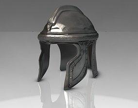 Ancient iron helmet 3D asset