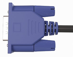 VGA cable 3D