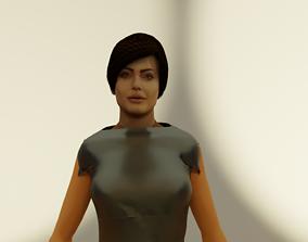 3D asset rigged ANGELINA JOLIE