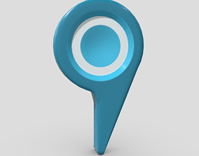 3D asset low-poly Map Pointer 5
