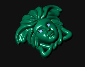 3D printable model 027 - Medusa Pendant Face Work