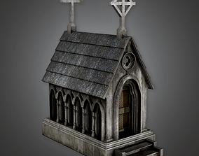 Cemetery Mausoleum 3 CEM - PBR Game Ready 3D model
